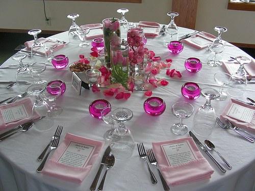 Round Table Wedding Reception Decorations  Elements of the reception table setting wedding & Round Table Wedding Reception Decorations: Reception d?cor photos ...