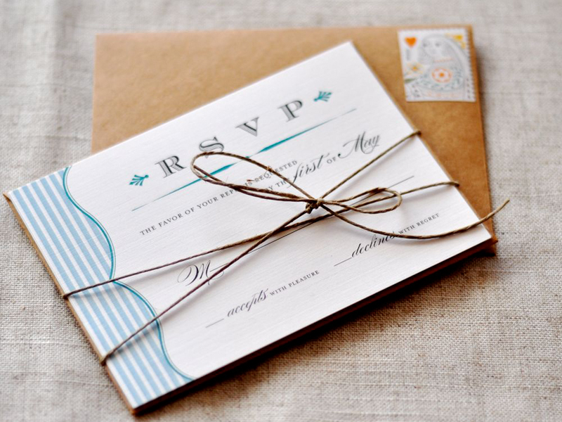 Rustic-Blue-White-Stripe-Wedding-RSVP