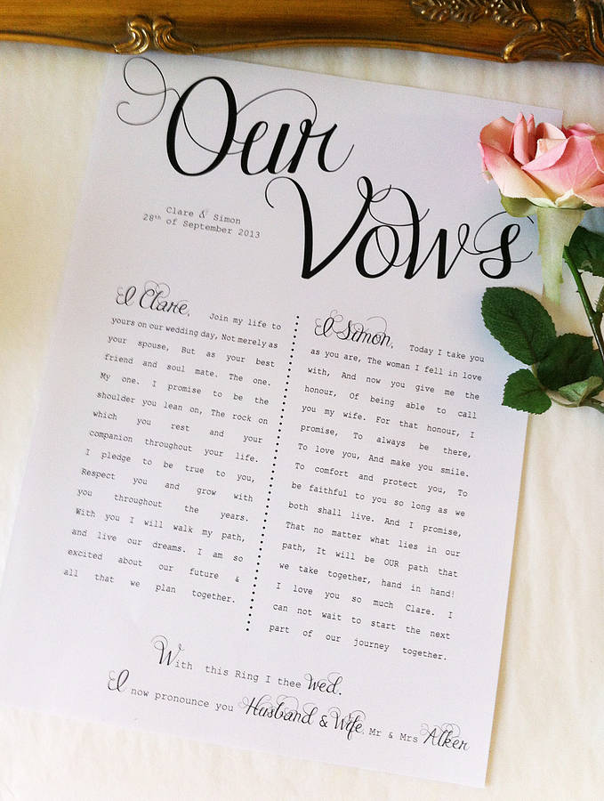 To Have And To Hold Writing Your Wedding Vows Nyc Wedding Blog