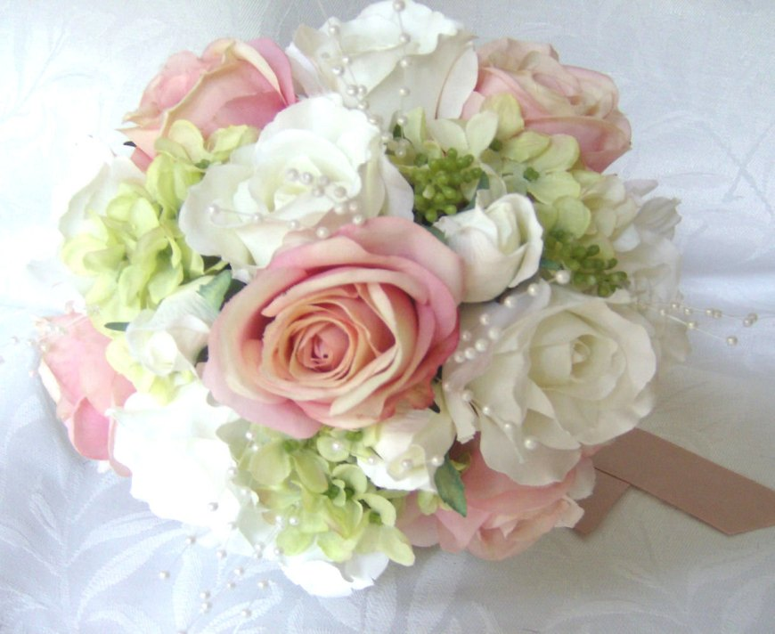 import-wedding-bouquets-and-boutonnieres-7-piece-set-silk-bridal-bouquets-pink-blush-roses-white-roses-green-hydrangea-316c4cf5b283cec69007d61f65647aec