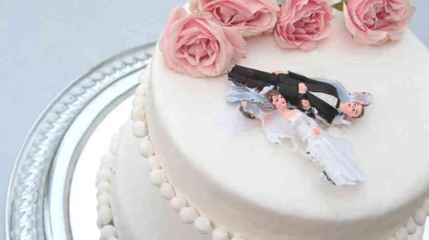 toppled wedding
