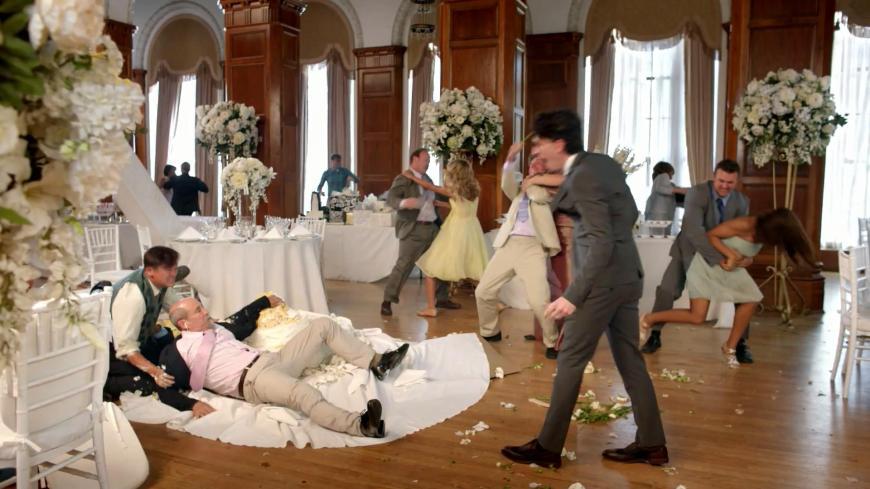 wedding brawl
